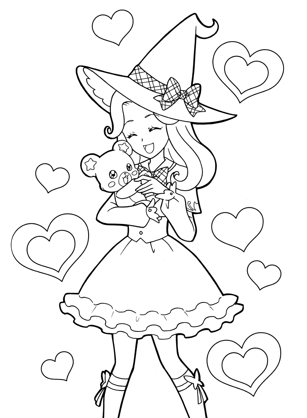 1000x1359 Cool Cool I Love You Anime Coloring Page Girl Mcoloring