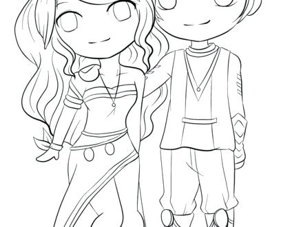 440x330 Anime Couples Coloring Pages Anime Couple Coloring Pages Free