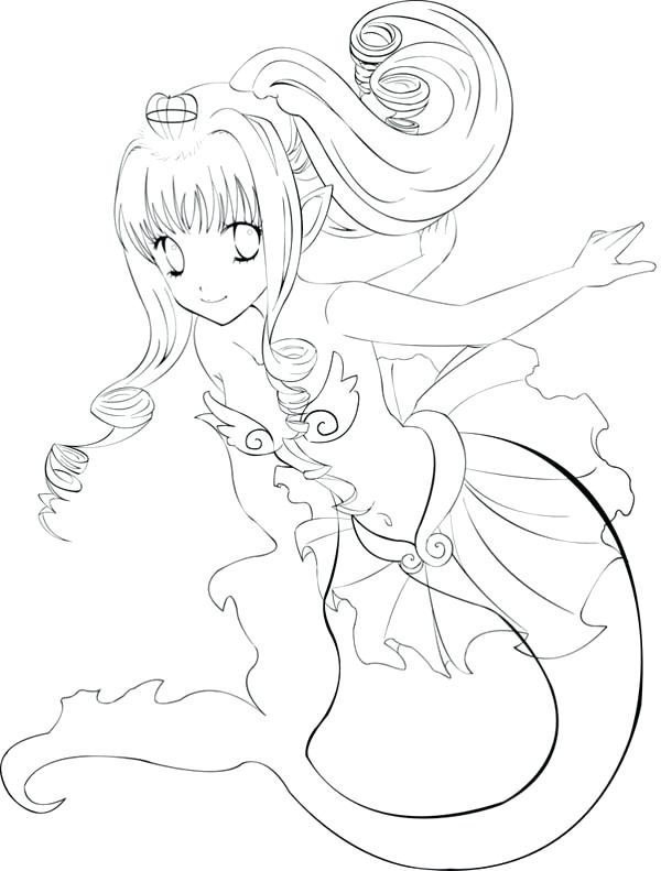 Anime Mermaid Coloring Pages at GetDrawings | Free download
