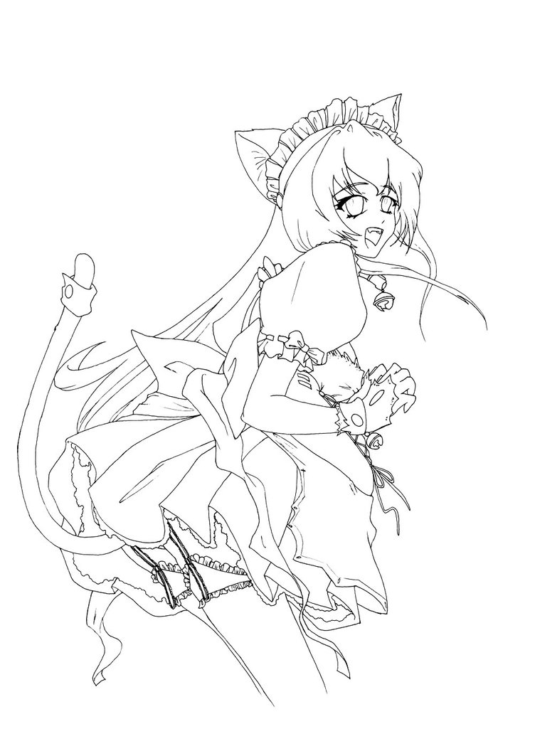 752x1063 Anime Girl Neko Coloring Pages Gallery Free Coloring Sheets