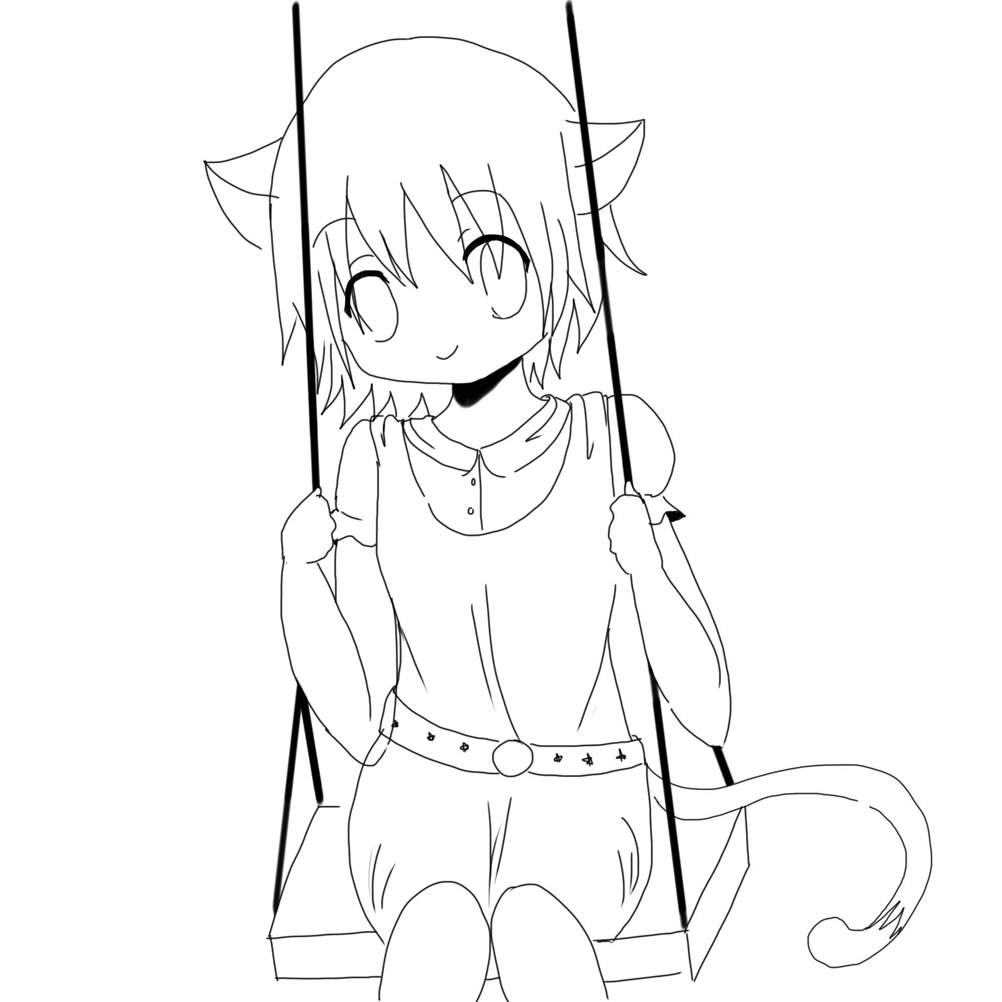 2000x2000 Anime Neko Coloring Pages Coloring Sheets