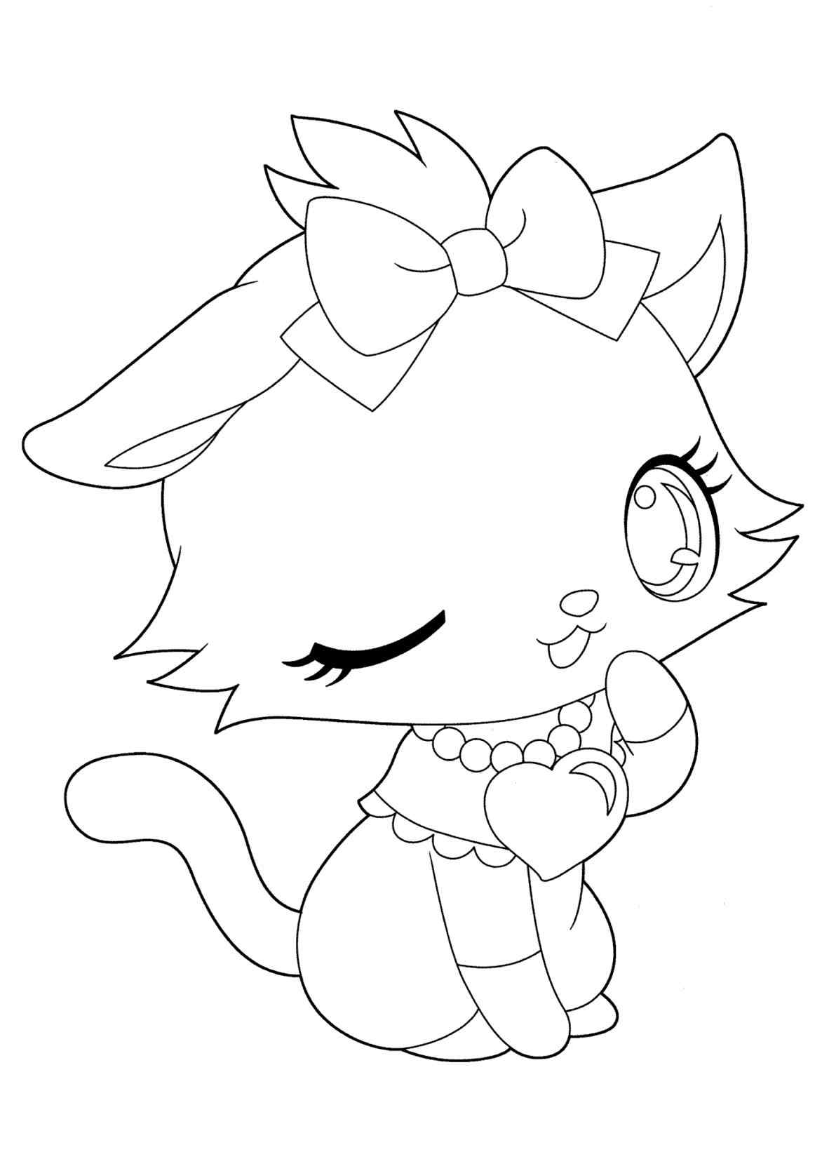 1172x1642 Anime Neko Couple Coloring Pages Online Coloring Printable