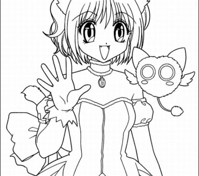 678x600 Anime Coloring Sheets Cat Girl Anime Coloring Pages Coloringstar