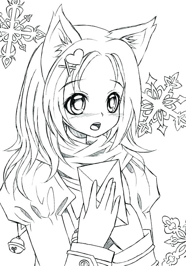 600x858 Anime Girl Coloring Pages Anime Coloring Pages Anime Coloring