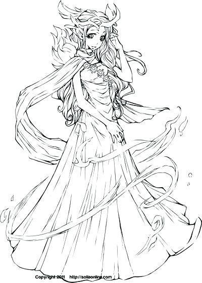 400x561 Anime Princess Coloring Pages Anime Princess Coloring Pages