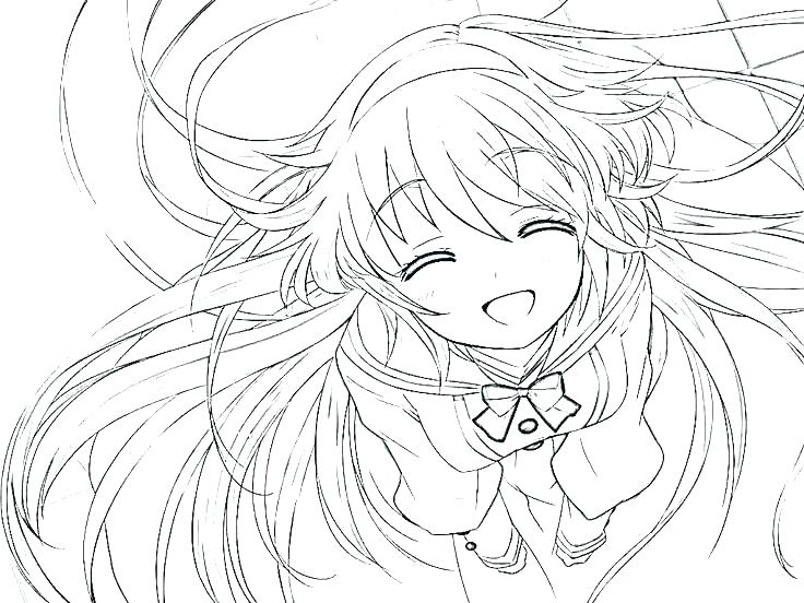 736x552 Cute Anime Girl Coloring Pages Anime Princess Coloring Pages