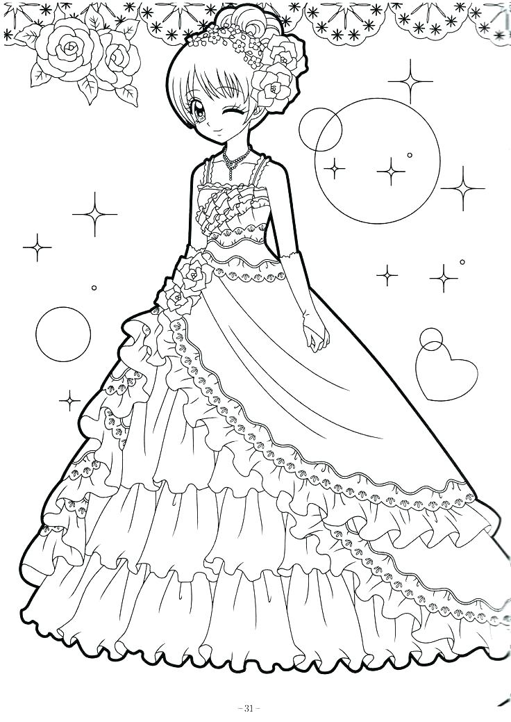 Anime Princess Coloring Pages at GetDrawings | Free download