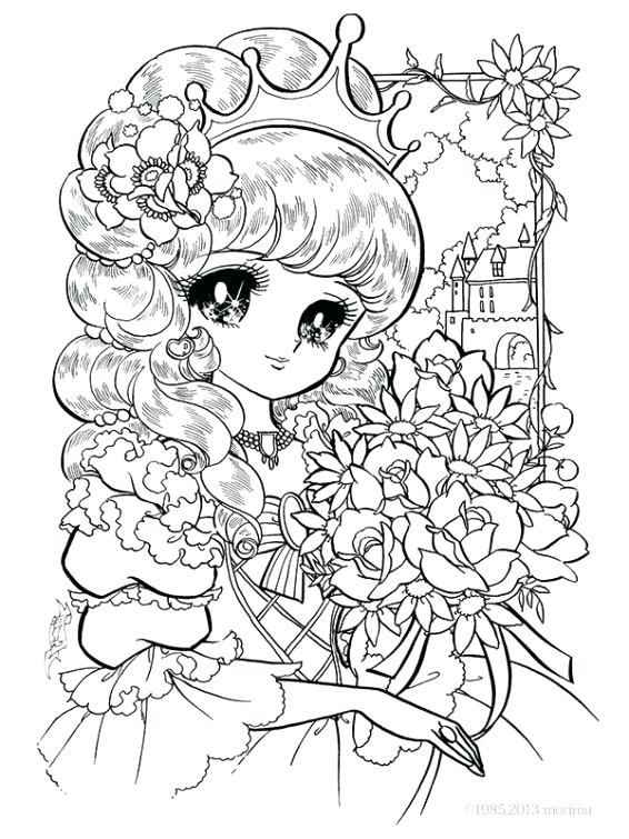 566x755 Anime Coloring Pages Online Cute Little Princess Coloring Page