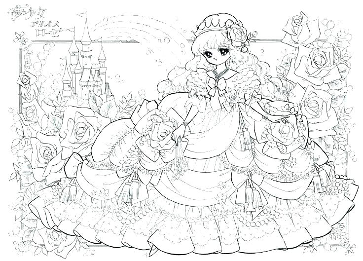 Anime Princess Coloring Pages At Getdrawings Free Download