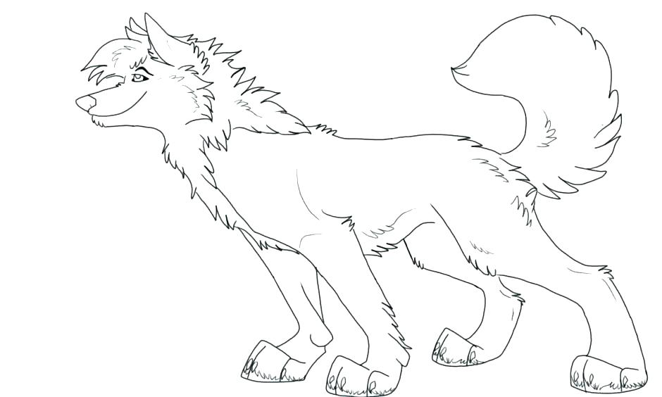 940x564 Coloring Pages Pdf Of A Wolf Pup Anime Man Wo