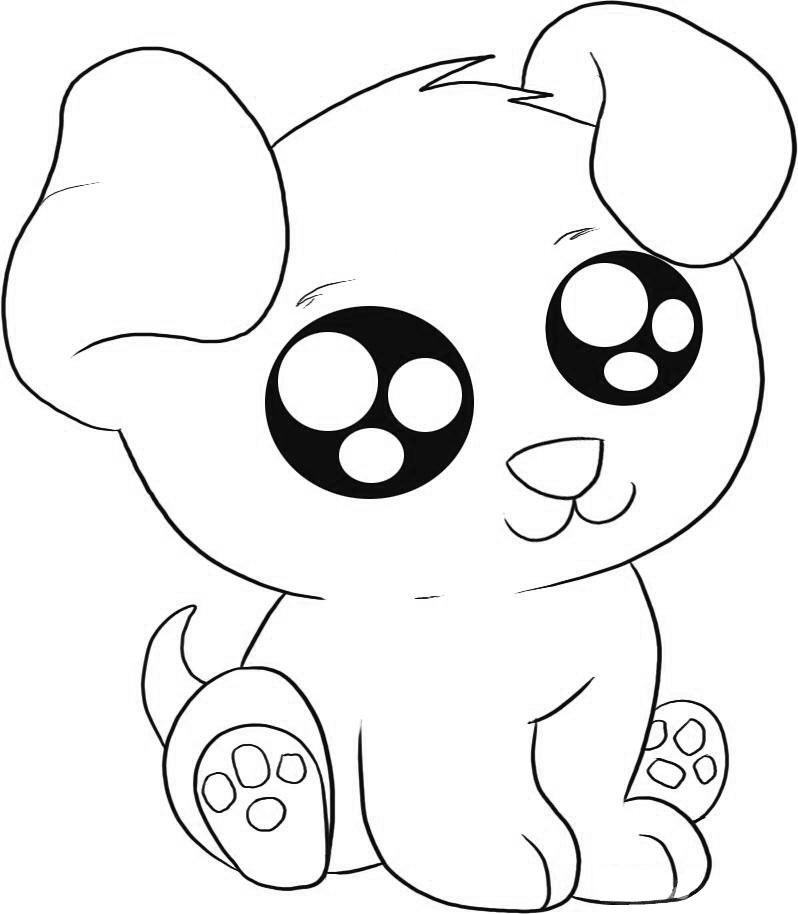 798x914 Puppy Coloring Pages