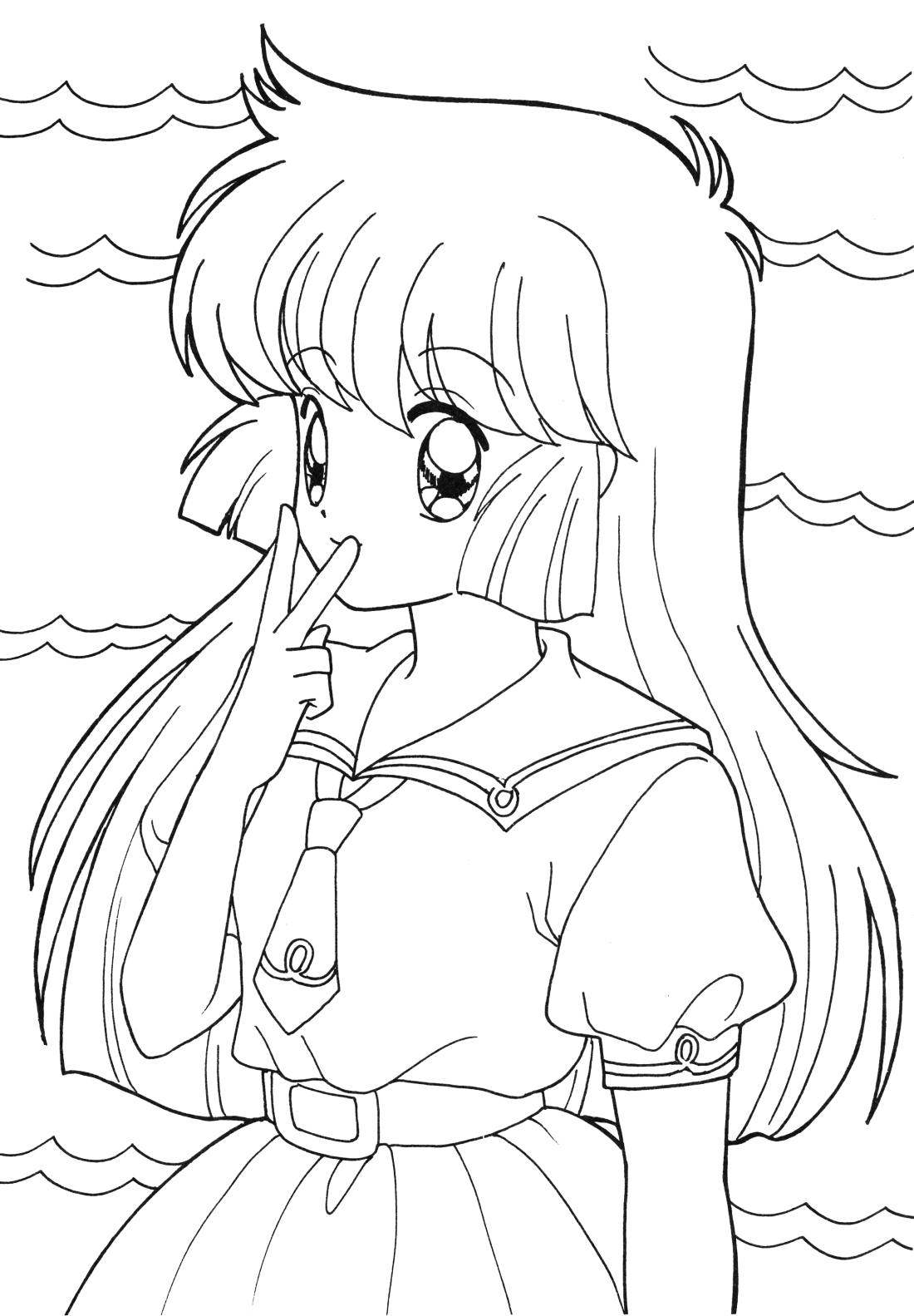 Anime School Girl Coloring Pages