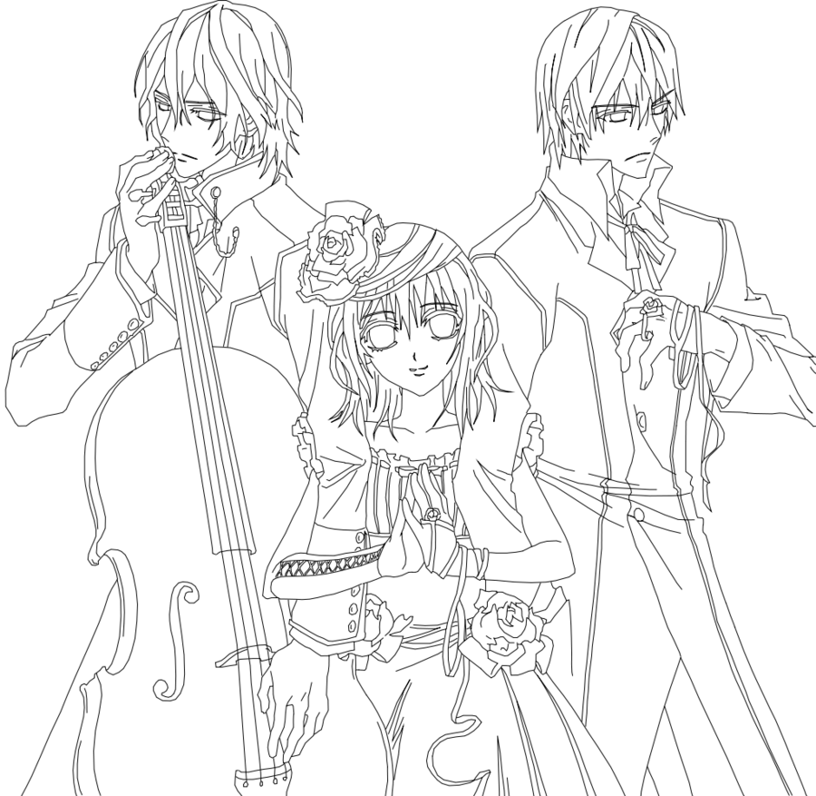 900x877 Anime Coloring Pages Vampire Knight Anime Coloring Pages Kids