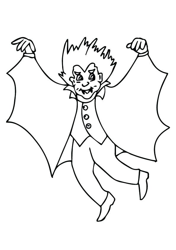 595x842 Vampire Coloring Pages Cartoon Of Count The Vampire Coloring Page