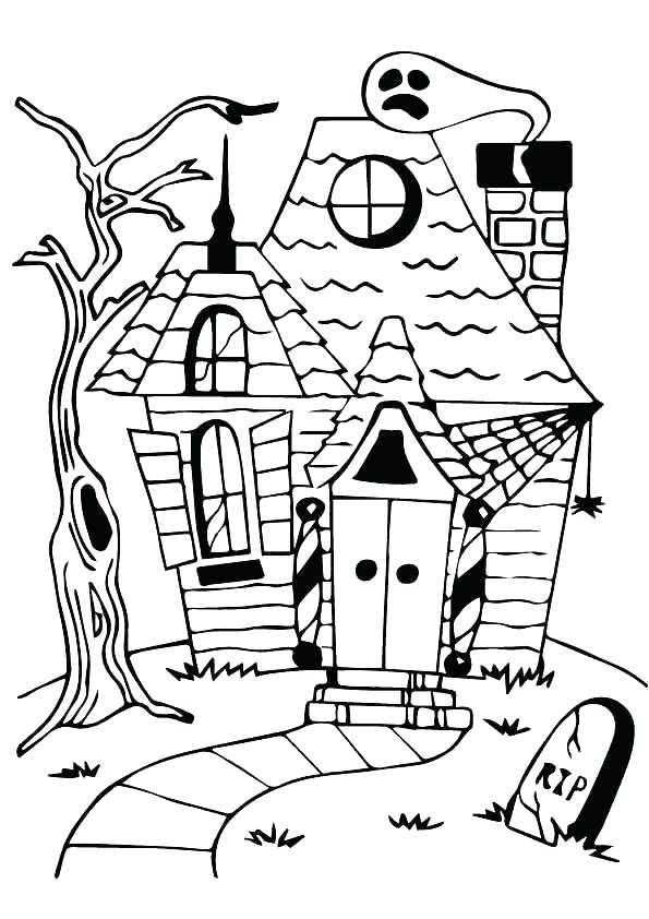 595x842 Vampire Coloring Pages Spooky House Coloring Pages As Well As