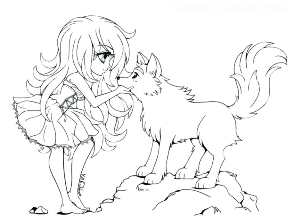 960x730 Coloring Pages Wolf Get This Free Printable Anime Wolf Girl