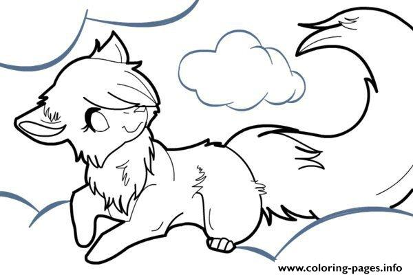 600x403 Anime Wolf Coloring Pages Printable