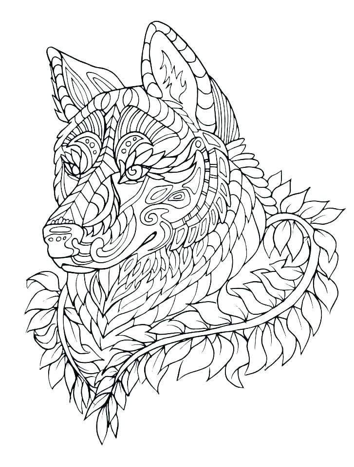 727x960 Anime Wolf Coloring Sheets Pictures Pages Free Printable Page
