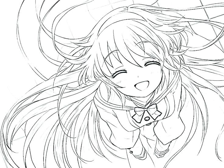 Anime Wolf Girl Coloring Pages