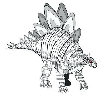 373x331 Ankylosaurus Coloring Page Robot Dinosaur Coloring Page