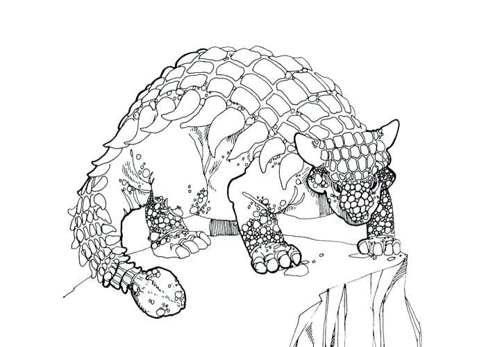 700x500 Ankylosaurus Coloring Page Stegosaurus Ankylosaurus Free Coloring