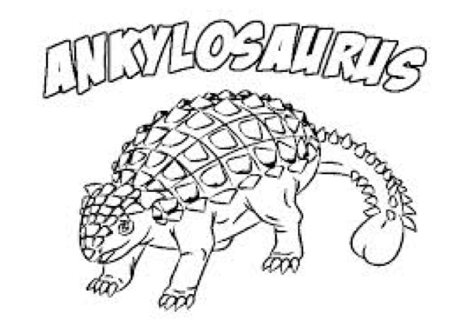 651x458 Ankylosaurus Coloring Page Coloring Book