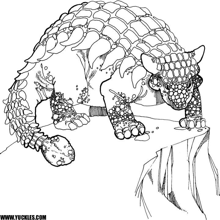 720x720 Ankylosaurus Coloring Page