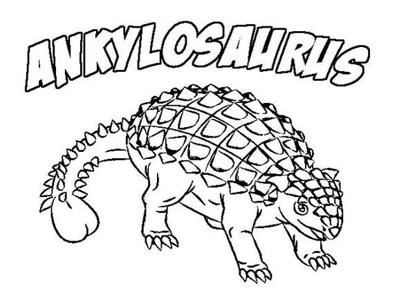 600x424 Ankylosaurus Baby Coloring Page