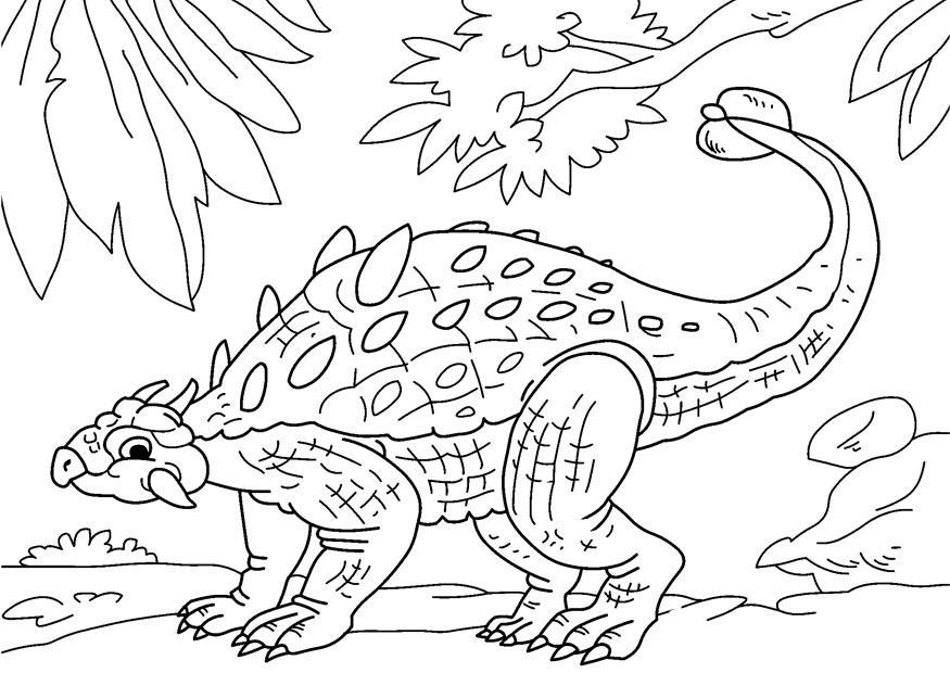 875x620 Coloring Page Dinosaur