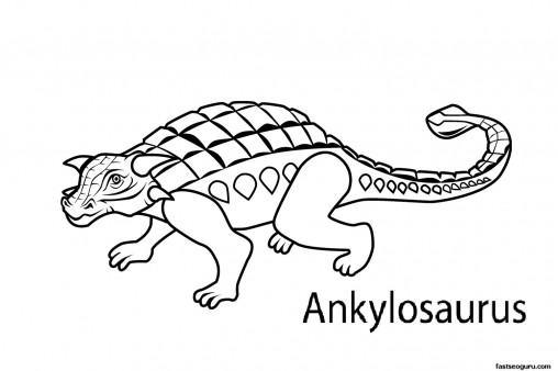 508x338 Printable Dinosaur Ankylosaurus Coloring Pages