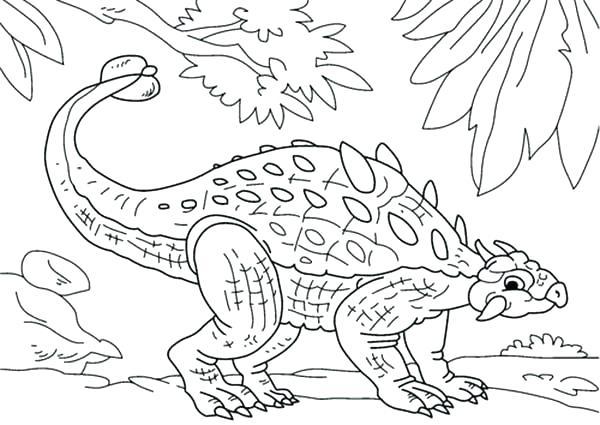 600x425 Ankylosaurus Coloring Page