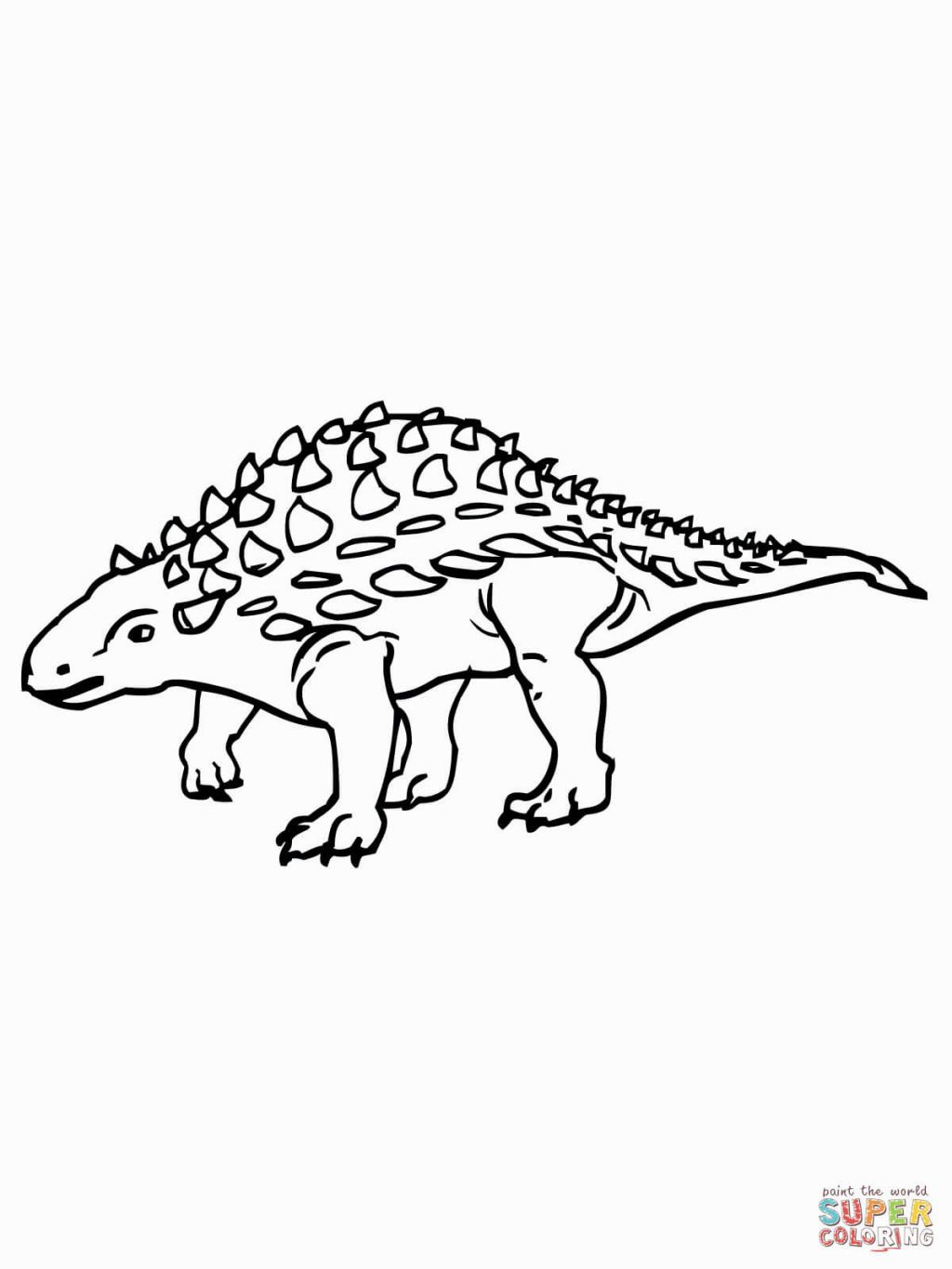 1024x1365 Ankylosaurus Coloring Page Coloring Pages