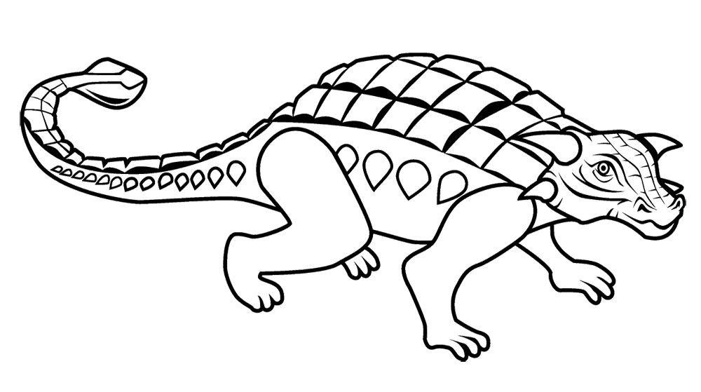 1000x559 Ankylosaurus Coloring Page Dinosaur Website