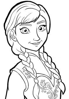 236x338 Download And Print Coloring Page Anna Frozen Anna Und Elsa