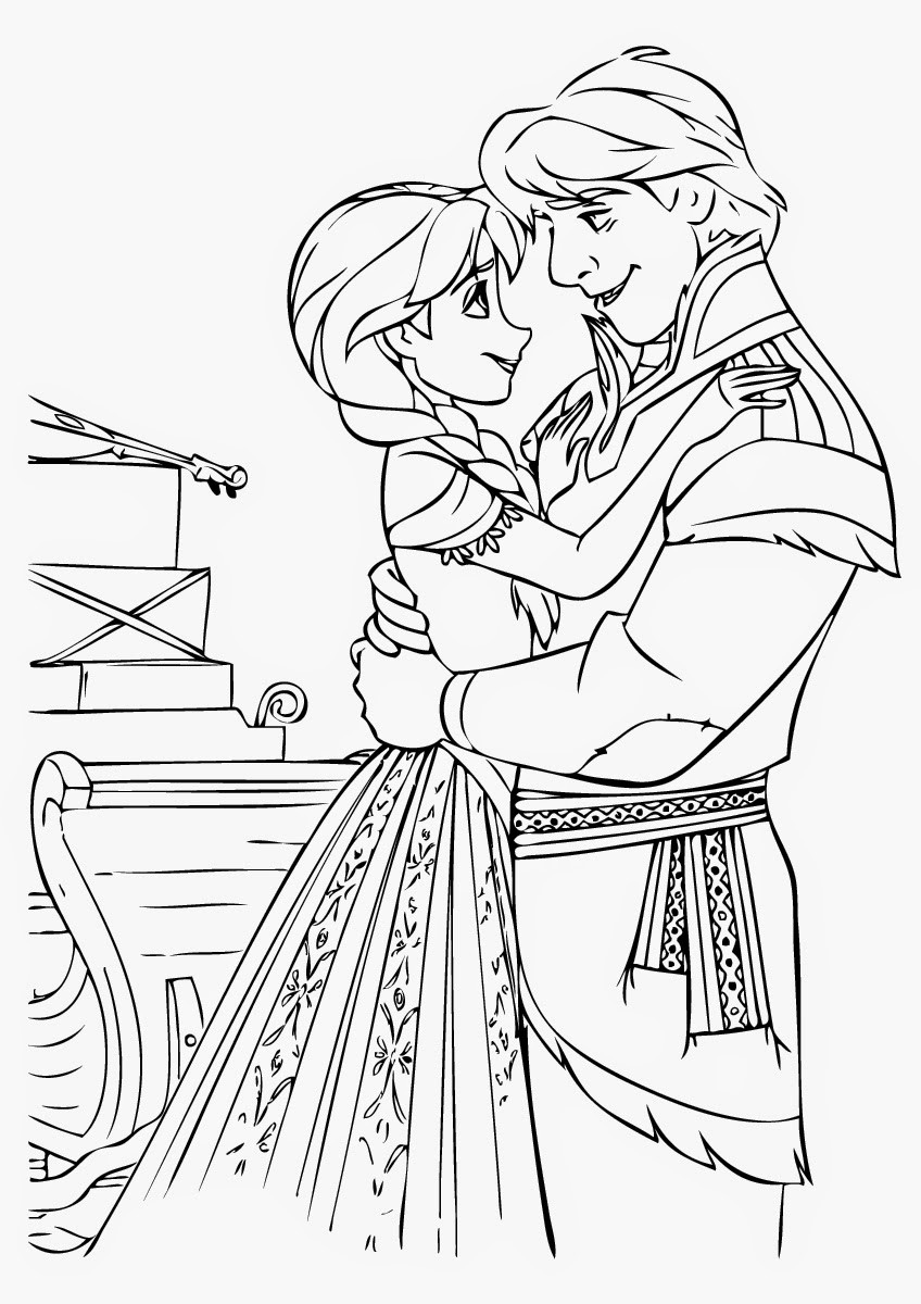 848x1200 Frozen Coloring Pages Anna And Kristoff Mosm