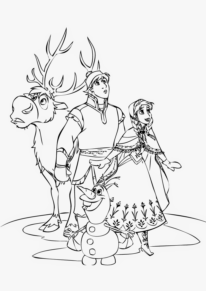 848x1200 Frozen Coloring Pages The Royal Family Games Online Adorable Anna