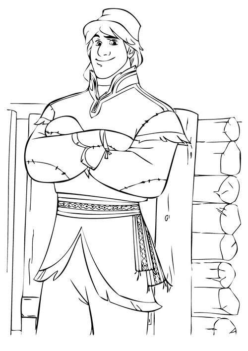 500x708 Frozen Kristoff And Anna Coloring Pages