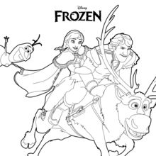 220x220 Ana, Olaf Kristoff Coloring Pages