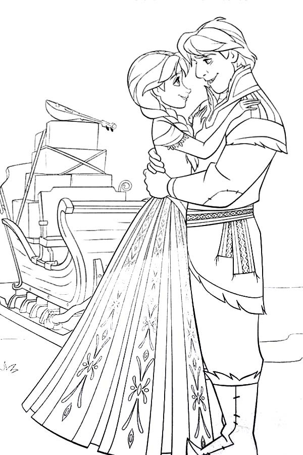600x900 Princess Anna And Kristoff From Frozen Coloring Pages Best Place