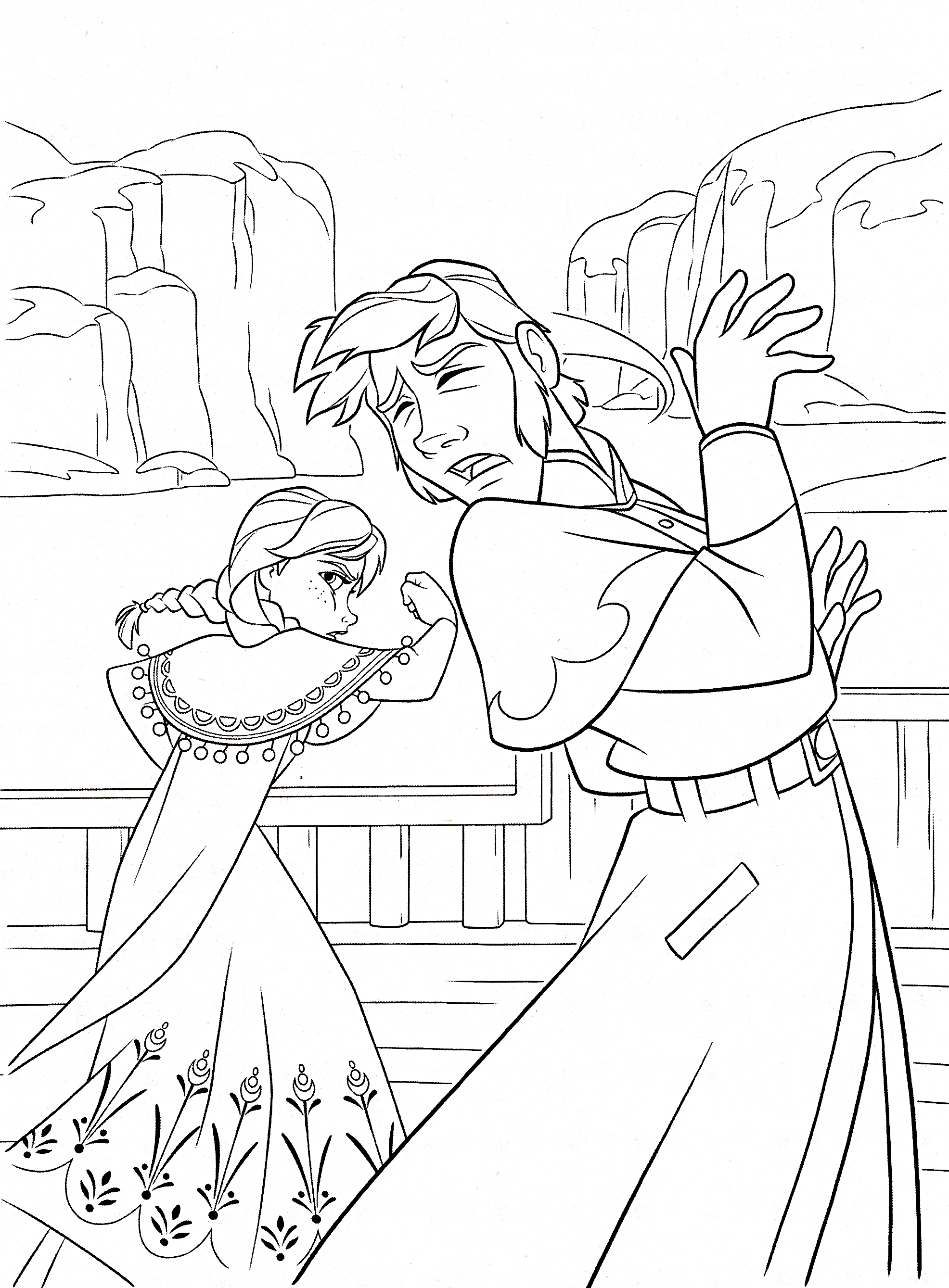 1972x2678 Anna's Fight Free Coloring Page Disney, Frozen, Kids Coloring Pages