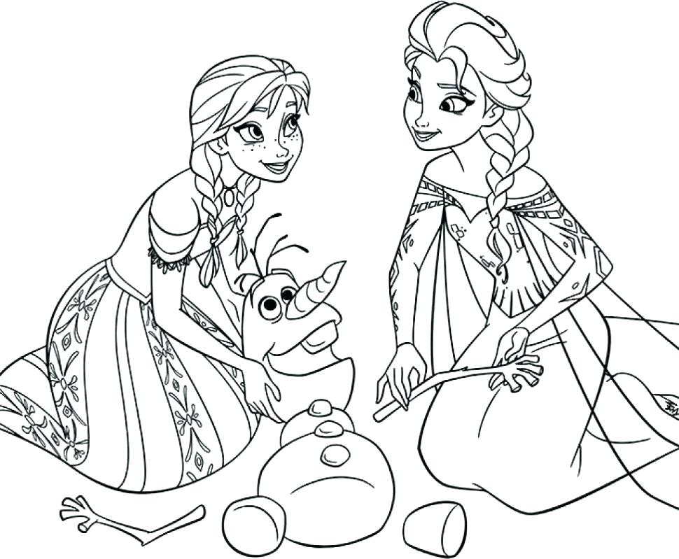 970x799 Frozen Elsa And Anna Coloring Pages Printable Color Sheets