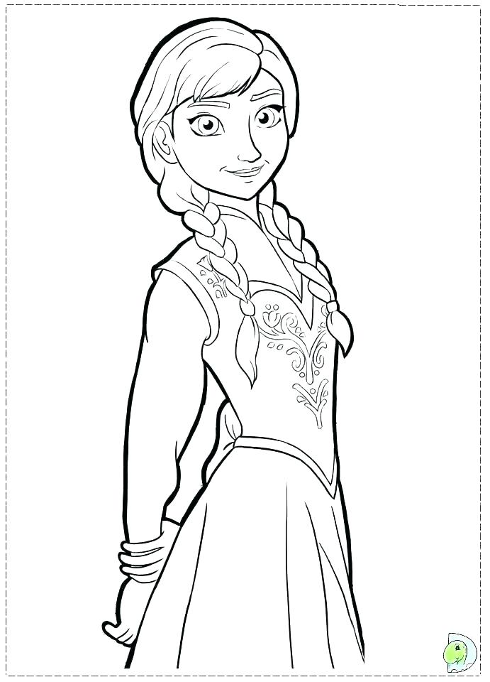 691x960 Frozen Elsa And Anna Coloring Pages Printable Party