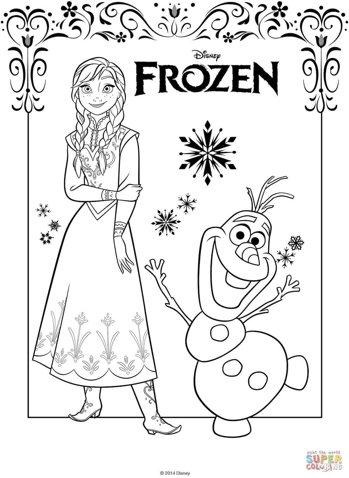 1126x1545 Frozen Anna Coloring Page Free Printable Coloring Pages Anna