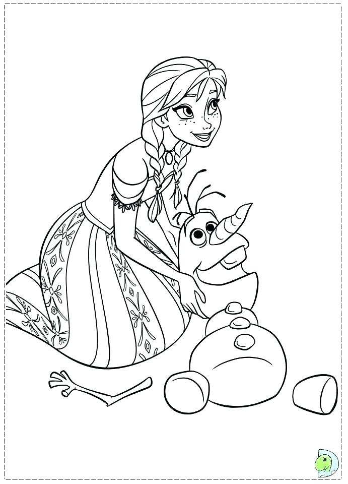 691x960 Frozen Elsa And Anna Coloring Pages