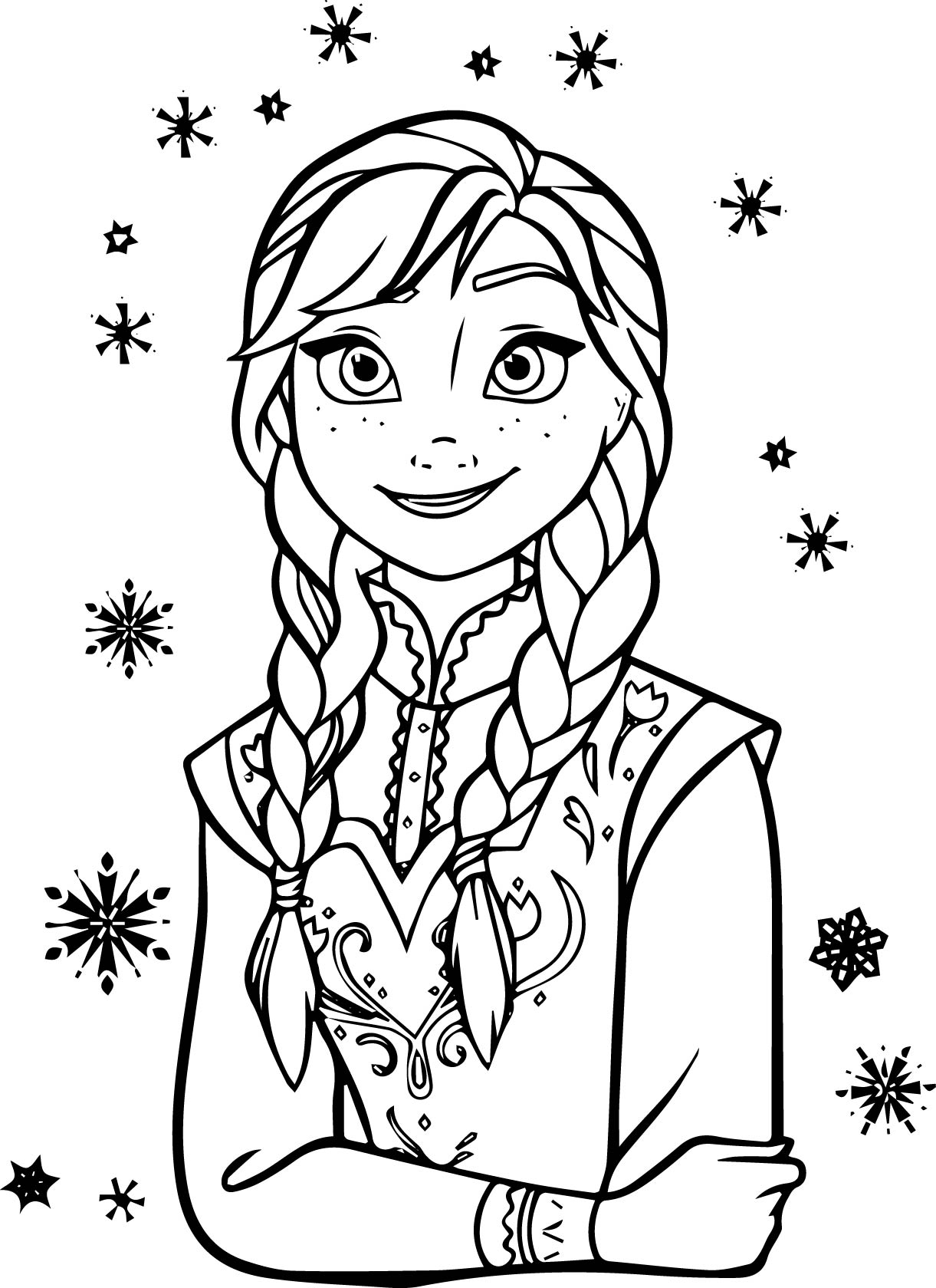 1221x1679 Anna Coloring Page Pages Listen Marvelous Elsa And Unknown