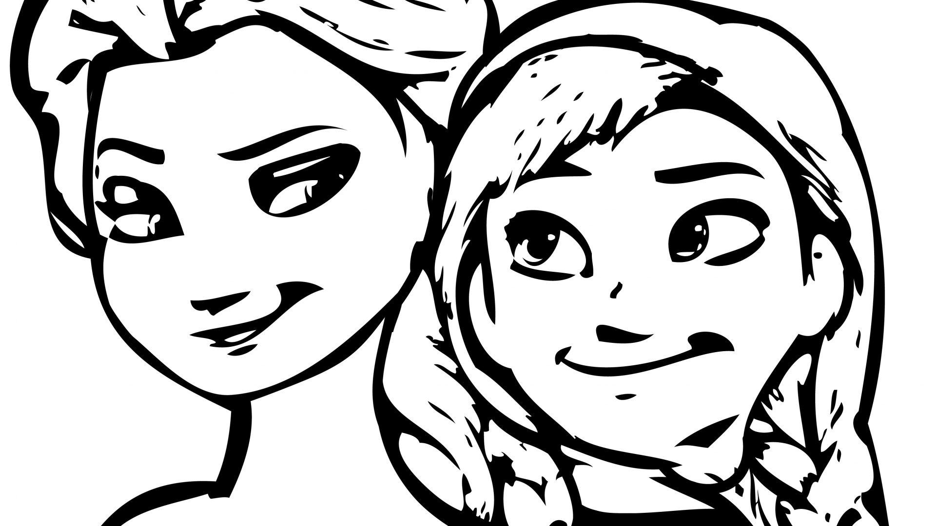 1920x1080 Coloring Pages Disney Frozen Cartoon Elsa And Anna Cartoons