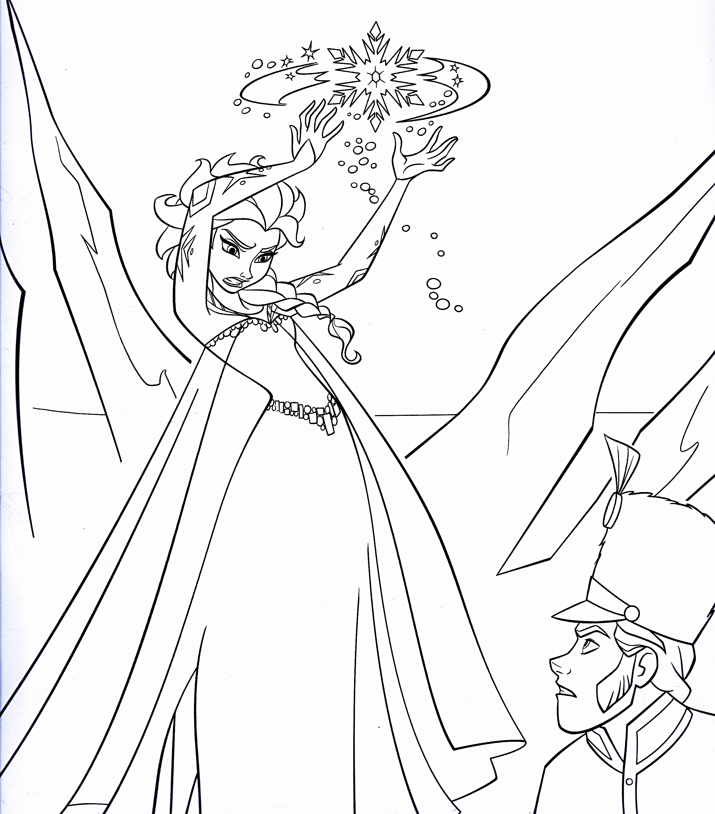 2504x2852 Elsa Frozen Coloring Pages