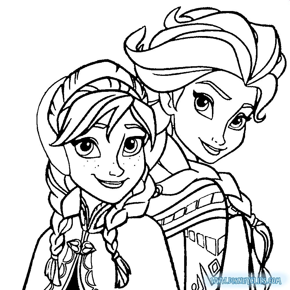 1000x998 Frozen Coloring Pages Elsa Face