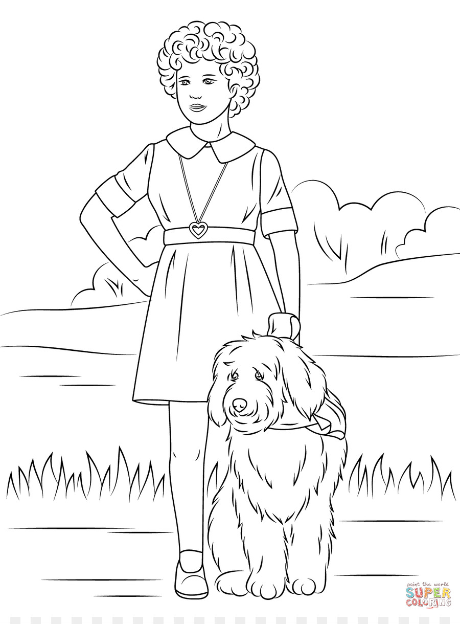 900x1220 Little Orphan Annie Coloring Book Page Child