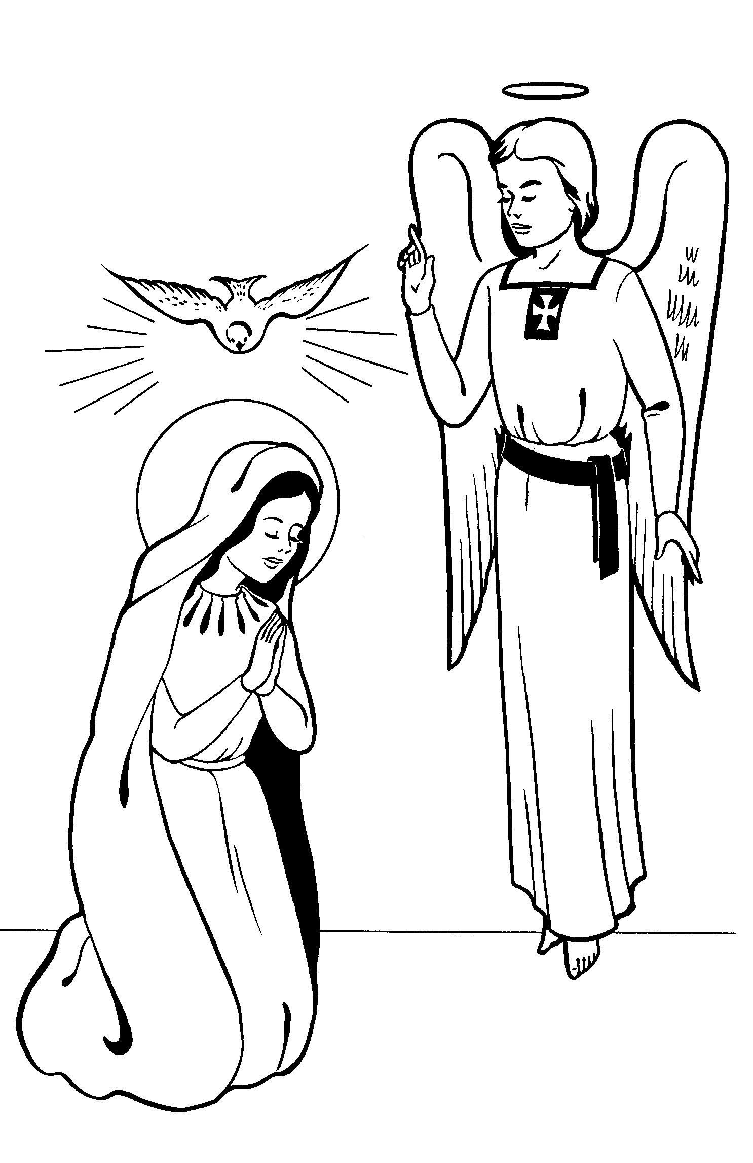 1486x2294 Annunciation Coloring Pages